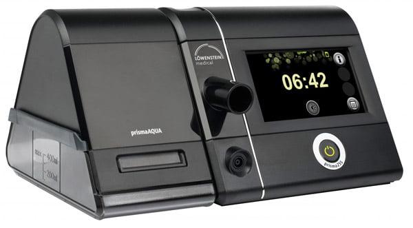 Сипап-аппарат Prisma 25S: подключен увлажнитель воздуха Prisma Aqua