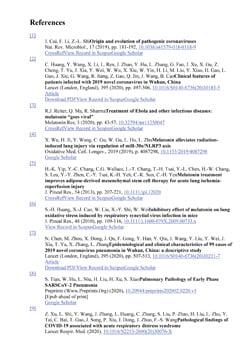 Использованная литература - References Melatonin vs Coronavirus COVID-19