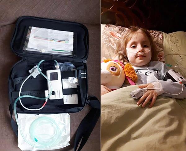 У Сони СМА, ей нужен аппарат неинвазивной вентиляции легких, ночная пульсоксиметрия
