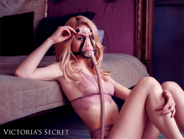 Victoria's Secret выпустила элегантные маски Victoria's Secret Releases Sexy Black Lace Sleep Apnea