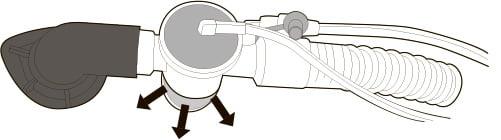 Однотрубочная система с клапаном выдоха со стороны пациента
