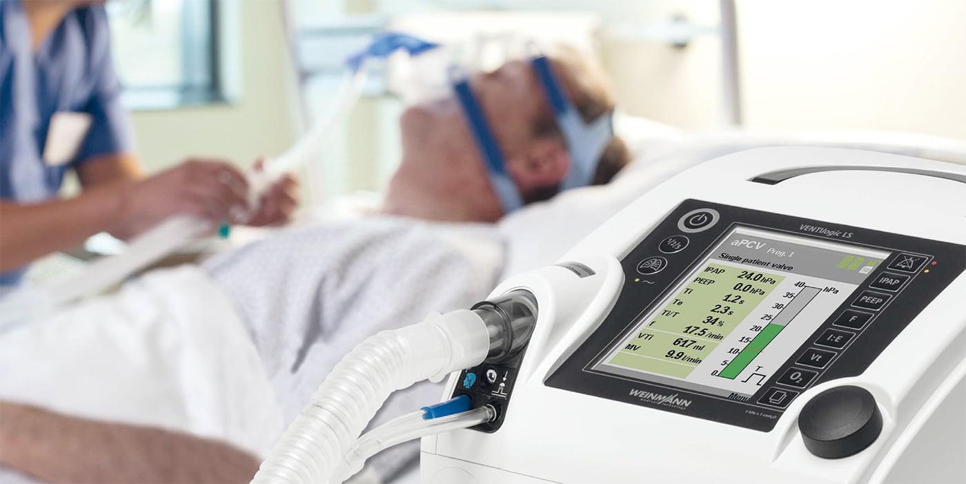 Аппарат ИВЛ и НИВЛ (инвазивной и неинвазивной вентиляции легких) VENTIlogic LS