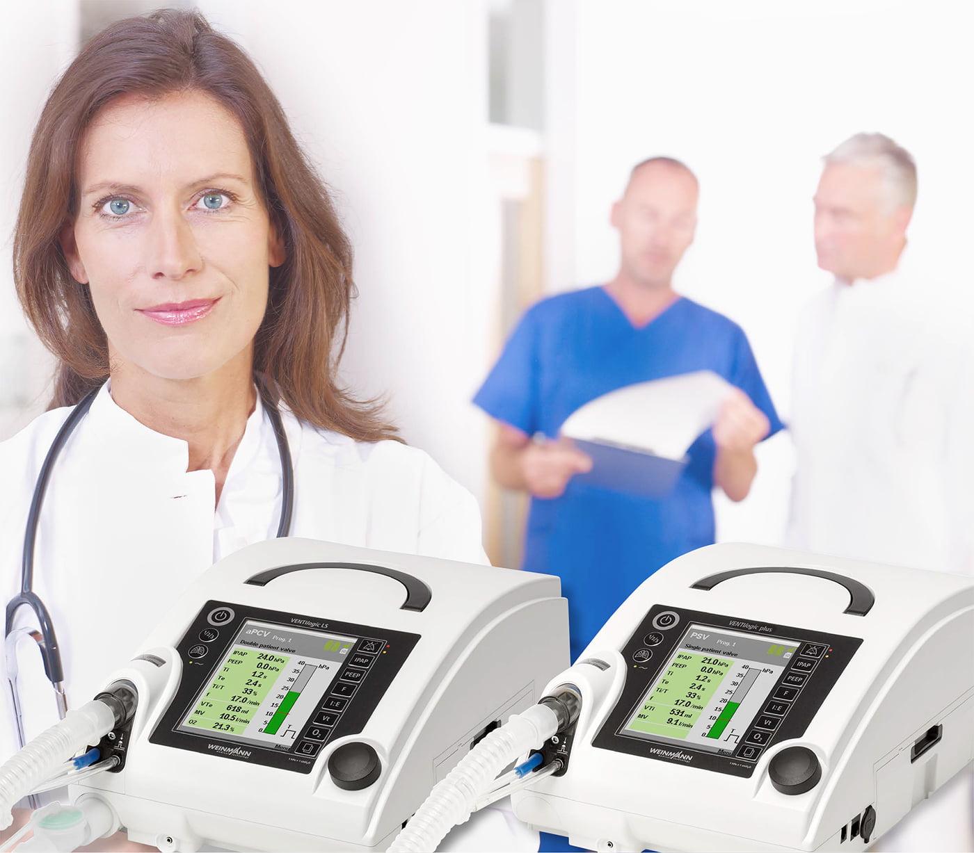 Быстрый и простой путь к идеальным параметрам терапии – с инновационными функциями от Löwenstein Medical