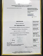 Certificate Charité – Universitätsmedizin Berlin Pogoretskyi Iurii Diagnosis and Therapy of Sleep Medicine Сертификат Клиника Шарите Погорецкий Юрий Диагностика и Терапия в Медицине сна