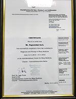 Certificate Charité – Universitätsmedizin Berlin - Iurii Pogoretskyi