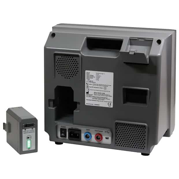 Автоматический откашливатель Comfort Cough II вид сзади, аккумулятор