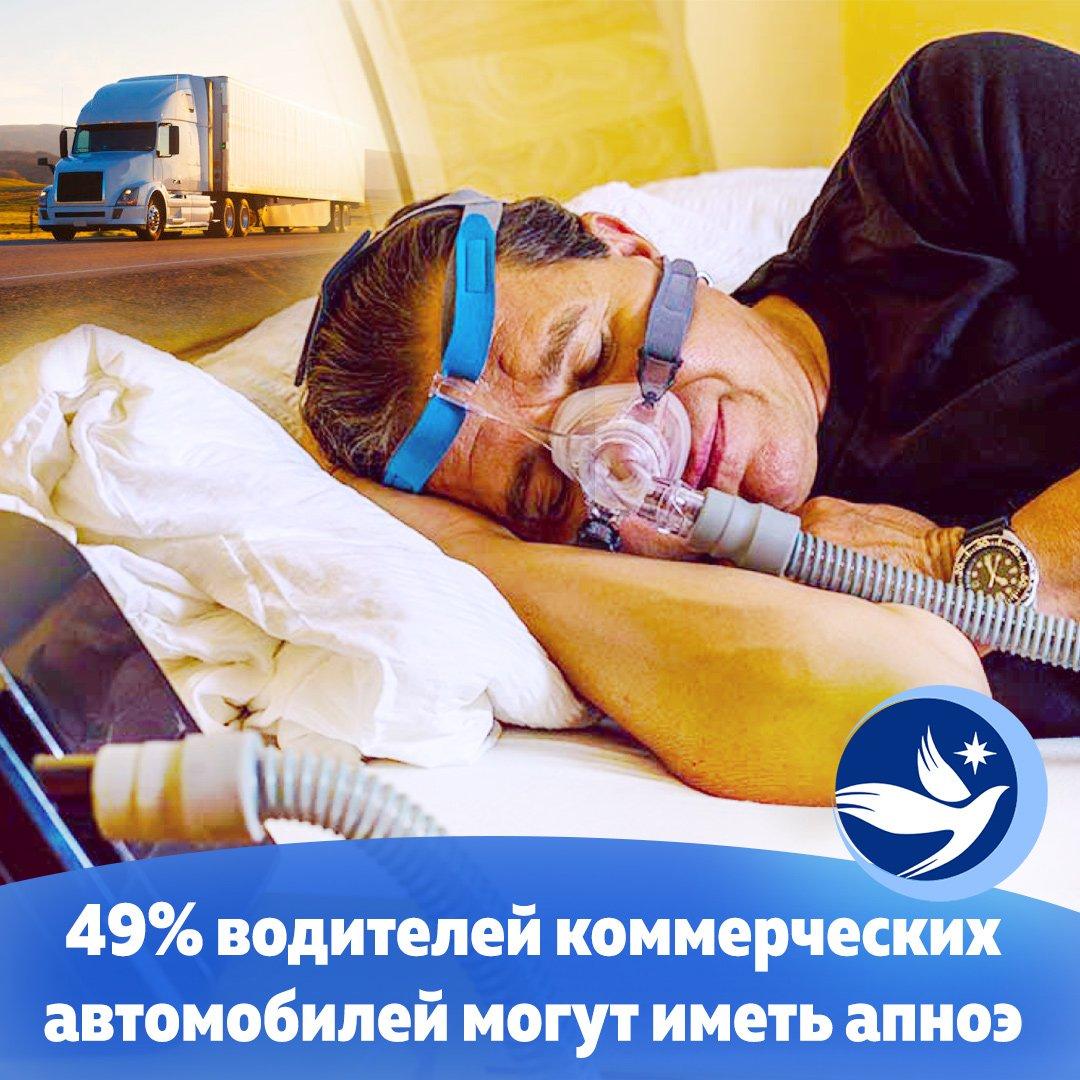 Новое исследование с участием 20 000 водителей с использованием комплексного метода оценки показало, что почти 49% водителей коммерческих автомобилей подвержены риску обструктивного апноэ во сне, состоянию, которое может вызвать сонливость во время вождения.