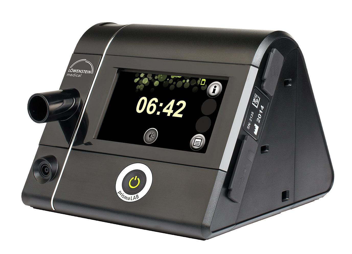 Аппарат для титрации prismaLAB предлагает пользователю интуитивно понятное управление и простую настройку терапевтических параметров.