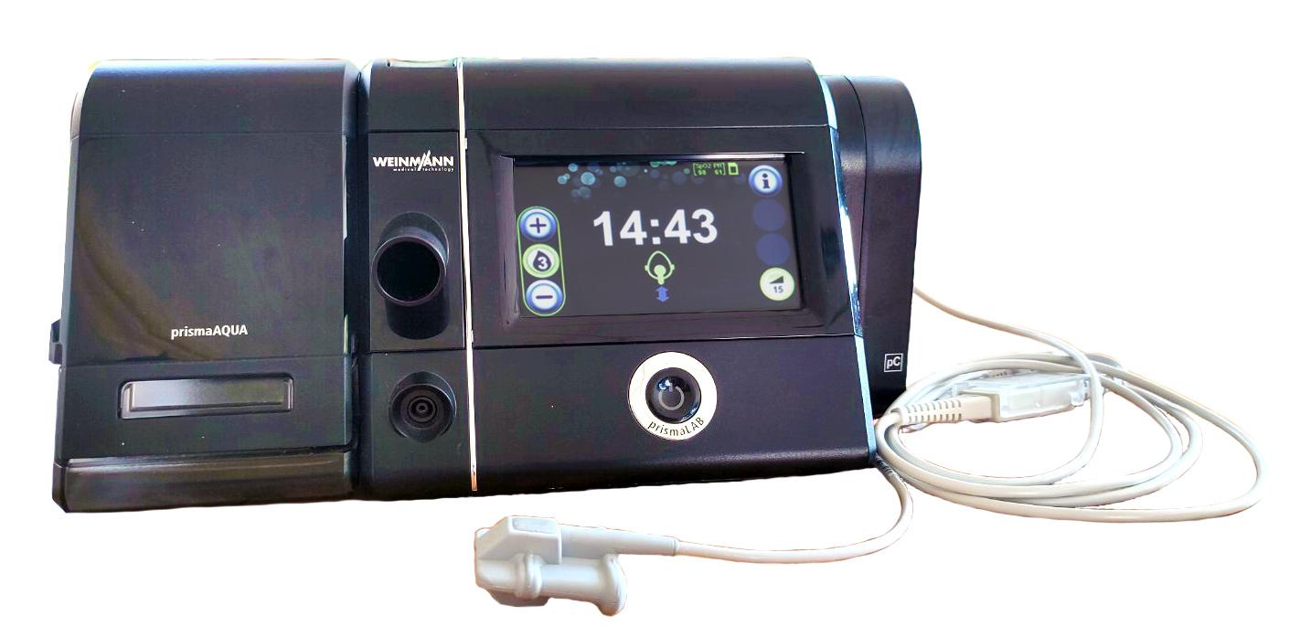 Модуль Prisma CHECK для измерения уровня насыщения крови кислородом SpO2 и частоты пульса во время сипап-терапии, интегрируется во все модели prismaLINE: Prisma 20A, Prisma 25S, Prisma, 25ST, Prisma 30ST
